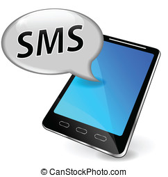 Vector sms on mobile phone