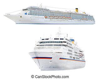 cruise ship - The image of cruise ship under the white...