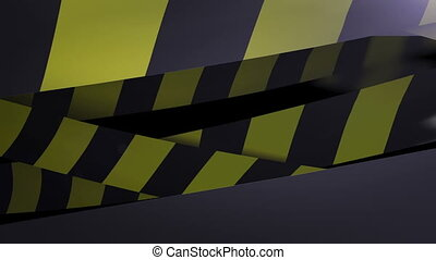 Under construction Yellow and Black Caution tape Loopable...
