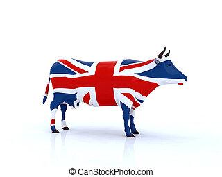 english cow 3d illustration