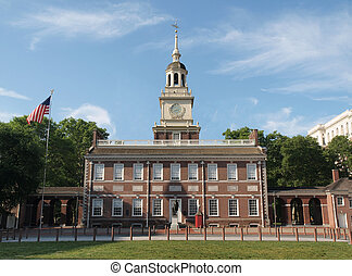 Independence Hall North Side - Independence Hall in...