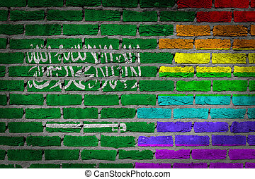 Dark brick wall - LGBT rights - Saudi Arabia - Dark brick...