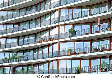 Facade of a modern building - Facade of modern hirise...