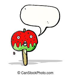 toffee apple cartoon