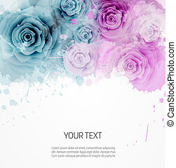 BAckground with abstract roses template - Abstract...