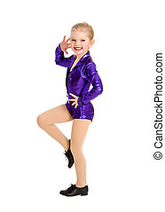 Tap Dance Kid in Sassy Recital Costume - A Junior Petite Tap...