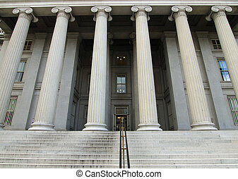 Treasury Building USA - United States Treasury Building in...