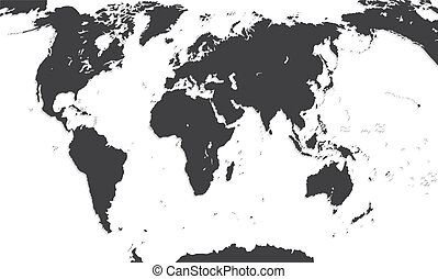 Map Of The World. Vector Illustration. EPS10