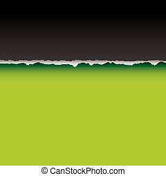green tear divide - Abstract paper background with torn edge...