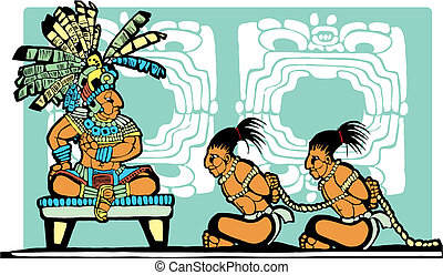 Mayan King and Prisoners