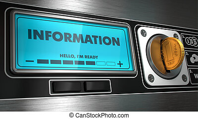 Information on Display of Vending Machine. - Information -...