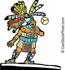 Mayan Ballplayer 1 - Mayan Ballplayer designed after...