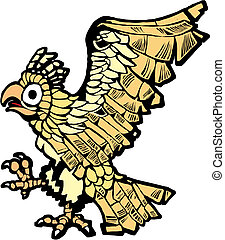 Aztec Eagle - Aztec eagle that symbolized the founding of...