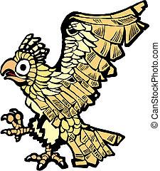 Aztec Eagle - Aztec eagle that symbolized the founding of...
