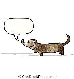 cartoon sausage dog