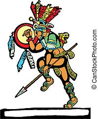 Mayan Warrior #2 - Mayan warrior designed after Mesoamerican...