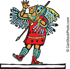 Mayan Warrior 1 - Mayan warrior designed after Mesoamerican...