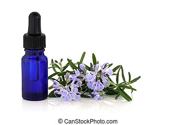 Rosemary Herb Essence and Flowers