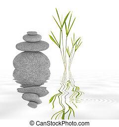 zen, jardín, tranquilidad