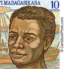 Young Man from Madagascar - Young Man on 1000 Francs 1994...