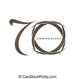 70 years anniversary vector - The abstract of 70 years...