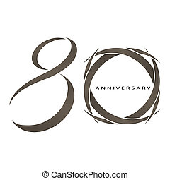 80 years anniversary vector - The abstract of 80 years...