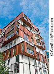Apartment house in the Hafencity in Hamburg