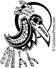 Raven rendered in Northwest Coast Native Style