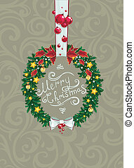 Marry christmas vitntage style , vector, eps  card