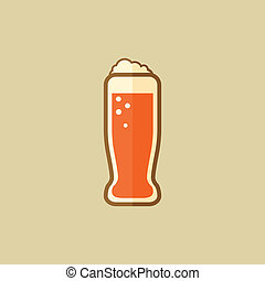 Beer Food Flat Icon Vector EPS 10