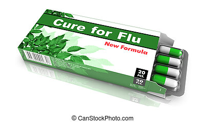 Cure for Flu - Pack of Pills - Cure for Flu- Green Open...