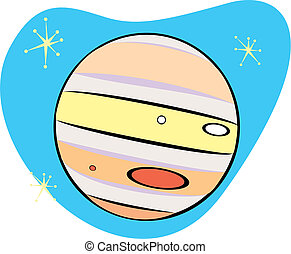Retro Planet Jupiter is part of a complete set of Solar...