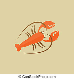 Lobster Food Flat Icon Vector EPS 10