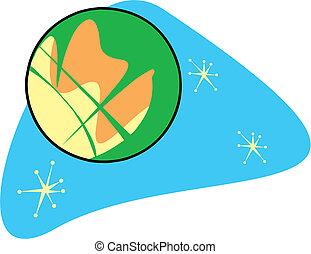 Retro Planet Mars