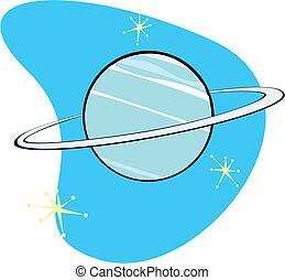 Retro Planet Neptune is part of a complete set of Solar...