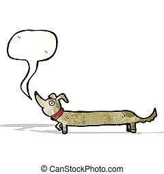 cartoon sausage dog