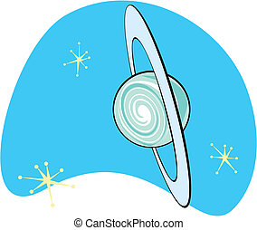 Retro Planet Uranus is part of a complete set of Solar...