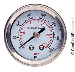 presure gauge instrument isolated in white