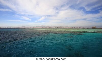Red sea - Shipwreck Lara on a reef in Red Sea