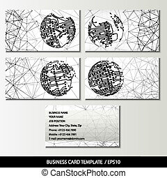 Set of business card templates vector illustration