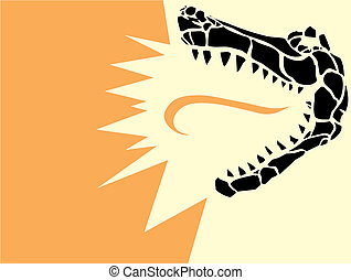 Alligator Head - Simple image of an stylized alligator head...
