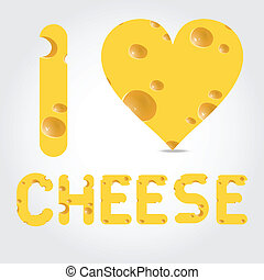 Vector  illustration with cheese