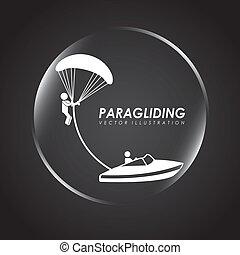 paragliding sport design , vector illustration