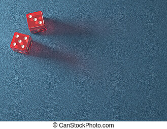 Red Dice Blue Table - Red dice on blue table Your text on...