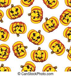 Halloween pumpkins - Halloween pumpkins seamless background...