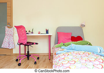 Little girl room - Interior of a little girl room,...