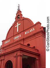 Christ Church Melaka, Malacca, Malaysia at early morning