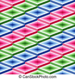 Seamless pattern with rhombic details - Seamless vector...