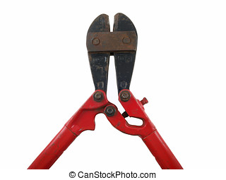 Well Used Bolt Cutter - A large well used bolt cutter. The...