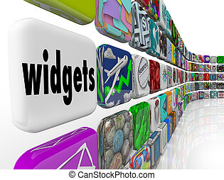 Widgets Applications Apps Software Programs Tile Icons -...